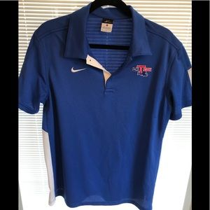 Men's Nike la tech polo shirt medium blue